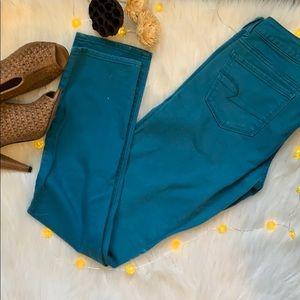 AEO Denim Skinny Jeans in Teal